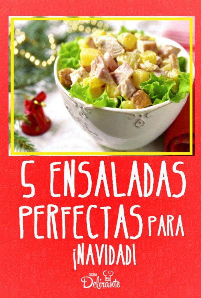 5 ensaladas perfectas para navidad y no son de manzana - Comida para navidad facil ...