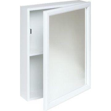 16x20 Surface Mount White Wood Medicine Cabinet Hd Supply Wood Medicine Cabinets Medicine Cabinet Mirror Wood Mirror