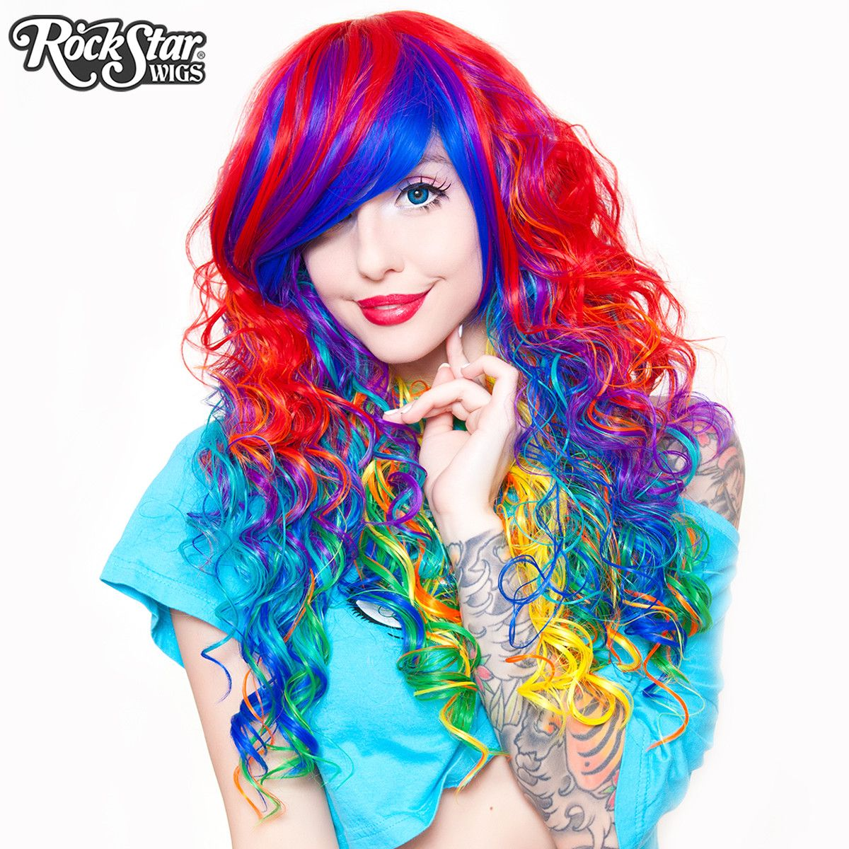 Rockstar Wigs Br Rainbow Rock Collection Hair Prism 1 00218