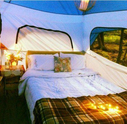 Best cozy tent camping romantic ideas #camping   Backyard ...