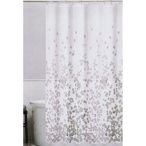 Maytex Sylvia Fabric Shower Curtain Fabric Shower Curtains Gray