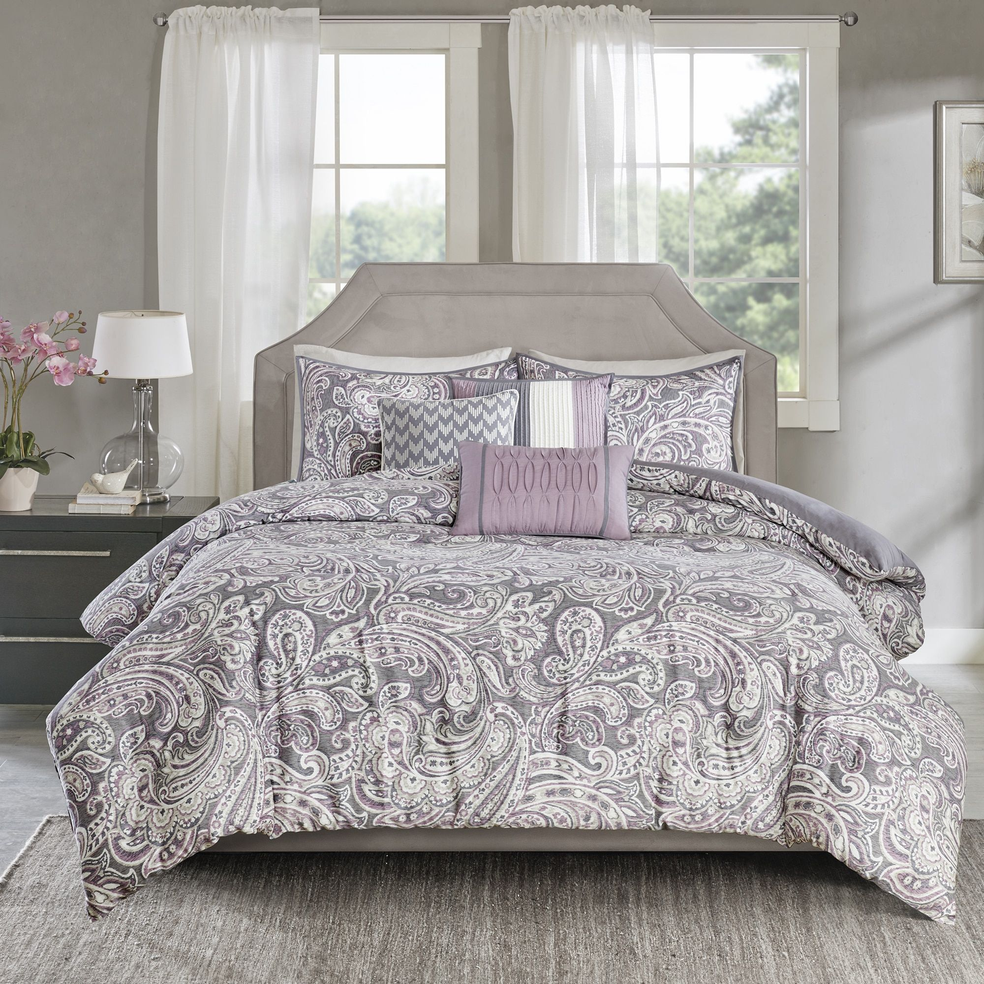 product grey comforter free bath bedding today printed set overstock piece cotton park sateen madison shipping karyna