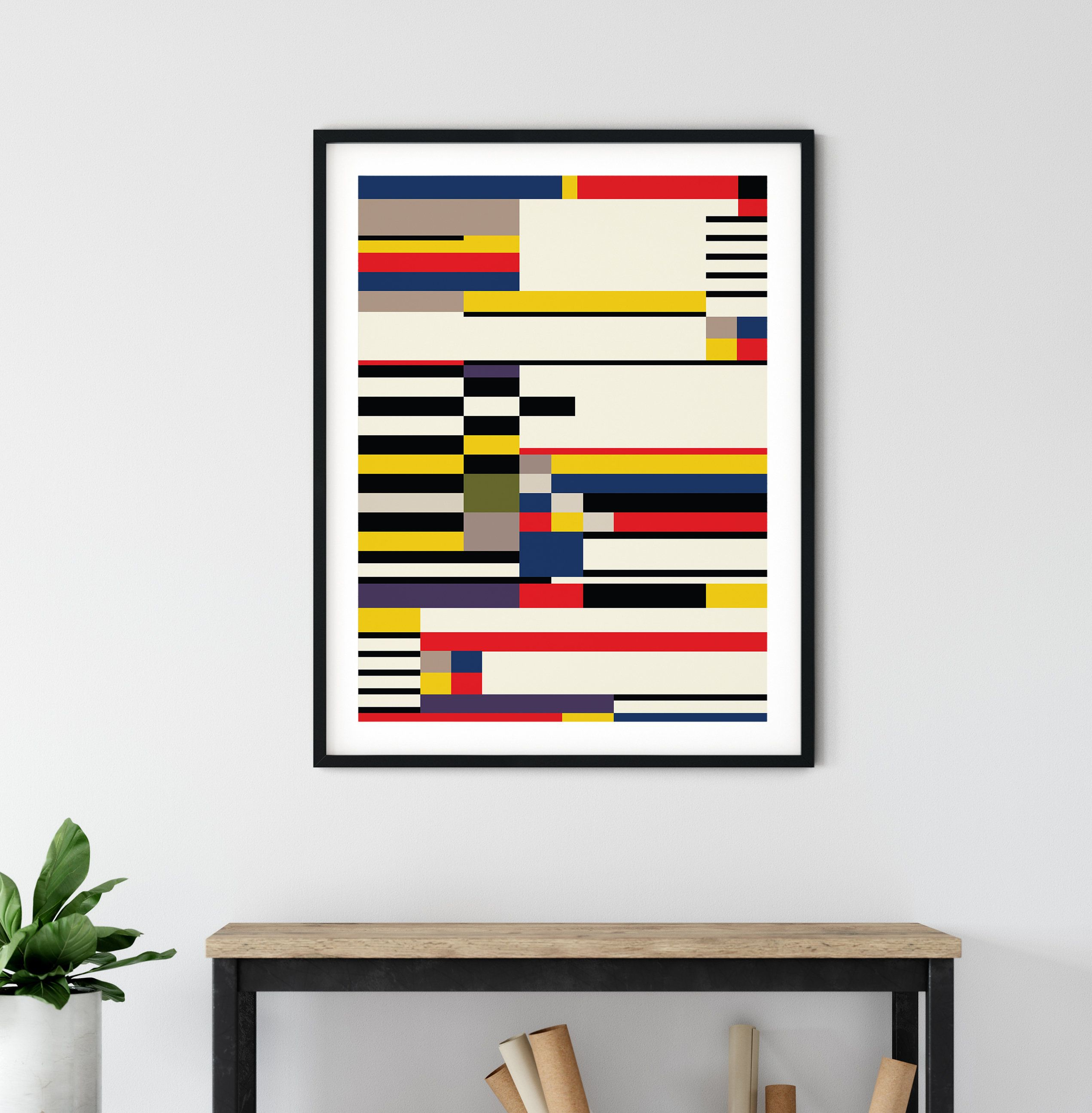 Bauhaus Modern Art Print Abstract Decor Poster