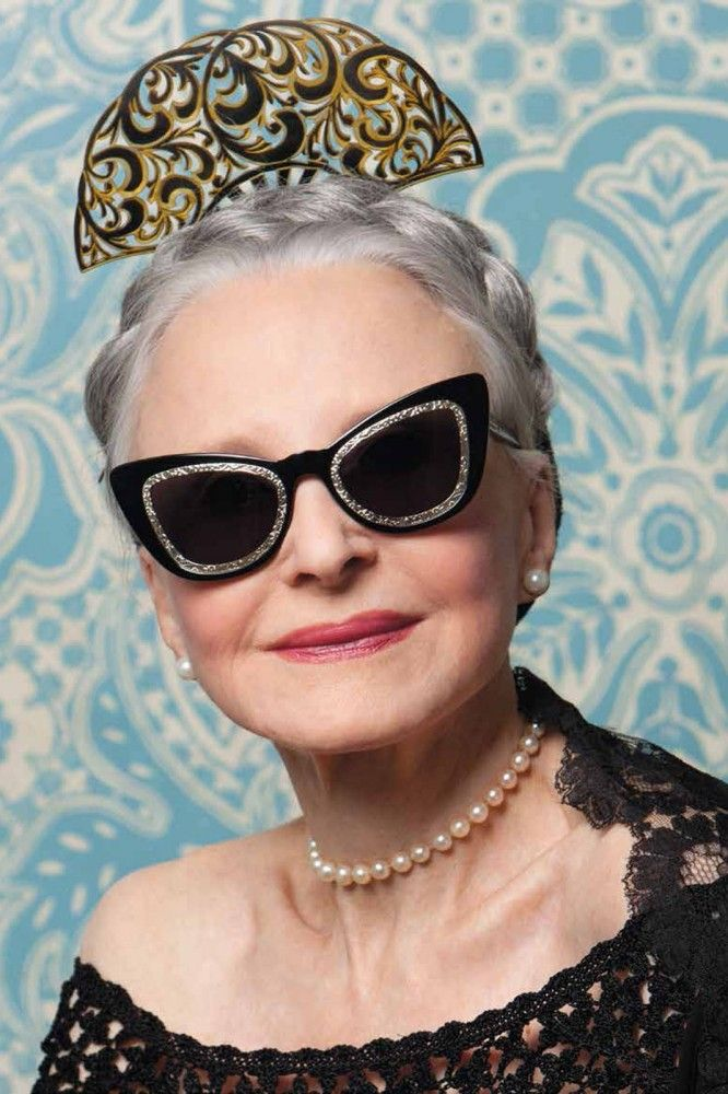 8e3232a54a37 Karen Walker x Advanced Style-beautiful skin and her neck is  faultless.every older woman needs pearls.