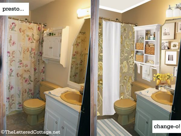 How to deal with a Harvest Gold Bathroom ( bathtub, toilet and sink)