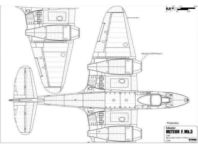 Gloster Meteor (1/48) Detail Scale Aircraft Drawings