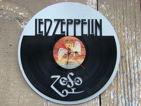 Re Purposed Recycled Vinyl Record Led Zeppelin Vinyl Clock Etsy In 2020 Led Zeppelin Vinyl Vinyl Records Vinyl