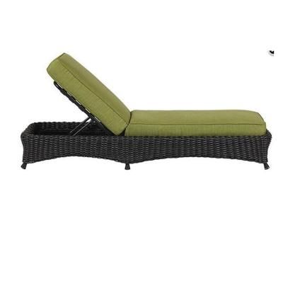 Martha Stewart Living Lake Adela Charcoal Patio Chaise Lounge with