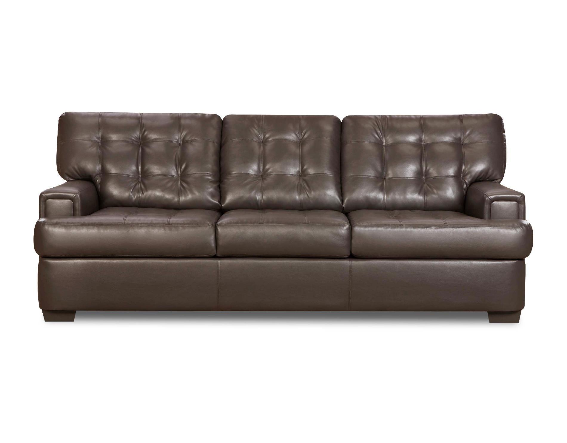Dark Brown Soho Sofa Simmons Leather