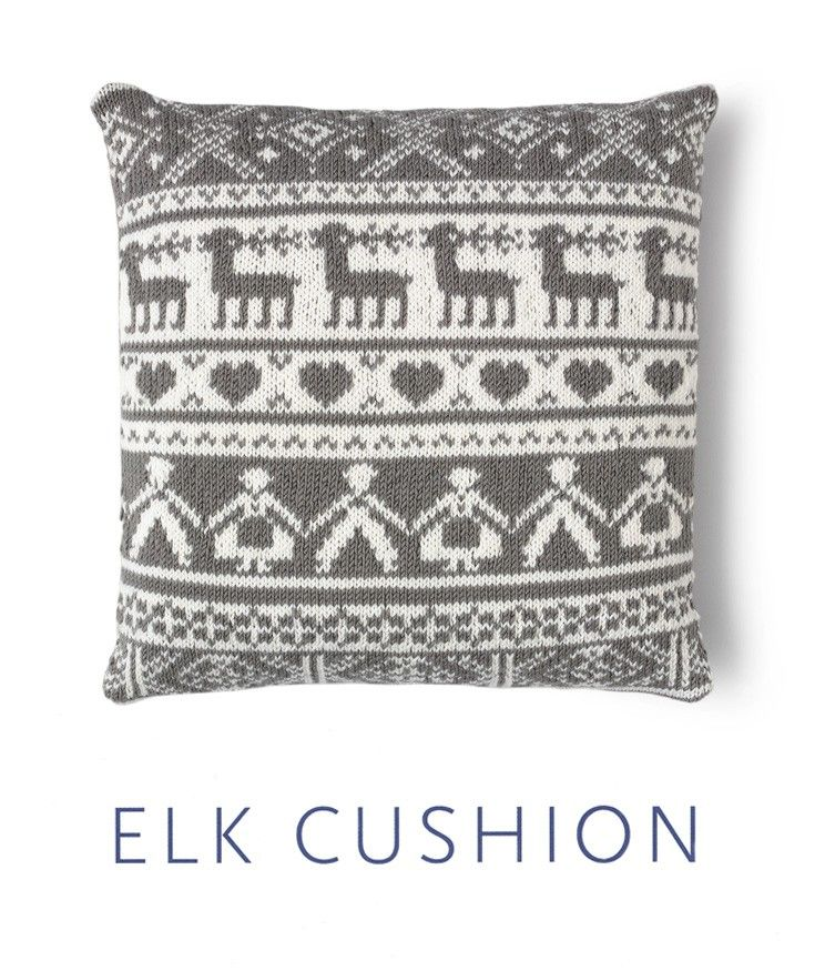 Elk Cushion Pattern in MillaMia Naturally Soft Merino