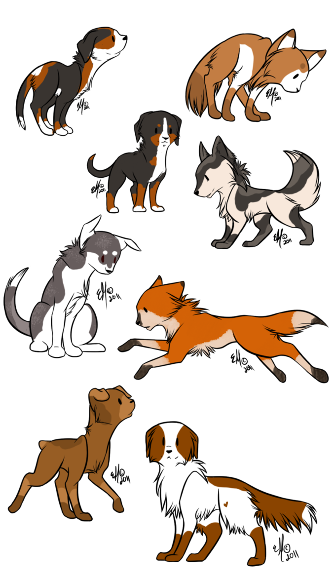 deviantART Dog Chibi dog adopts SOLD by whalebutt
