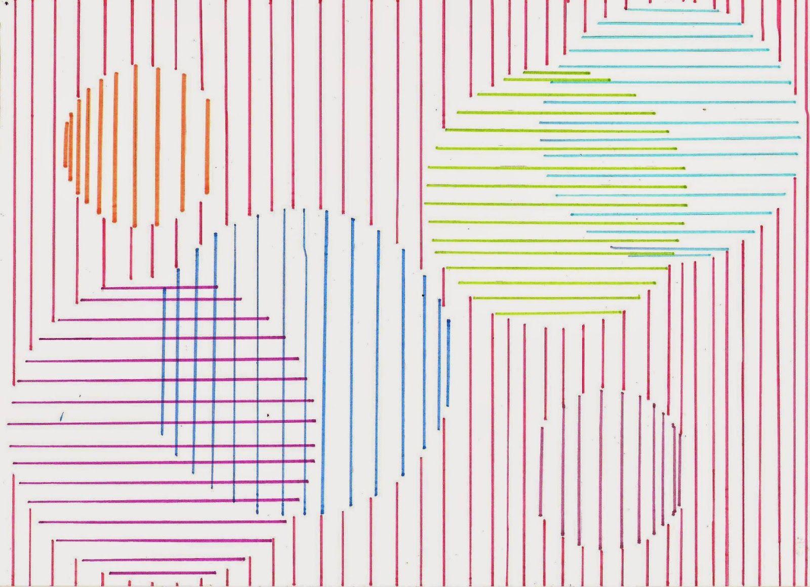 En La Clase De Plastica 1º Eso 1ª Evaluacion Curso 2014 15 Paralelas Y Perpendiculares Dibujo Con Lineas Lineas Paralelas
