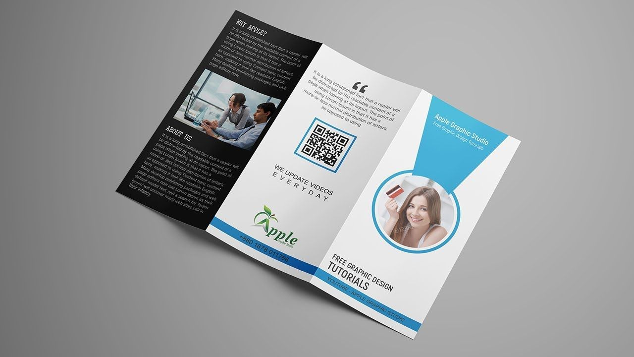 How To Create Tri Fold Brochure Template Design For Printing Photoshop Tutorial Regarding Z Fold Brochure Design Template Brochure Template Trifold Brochure