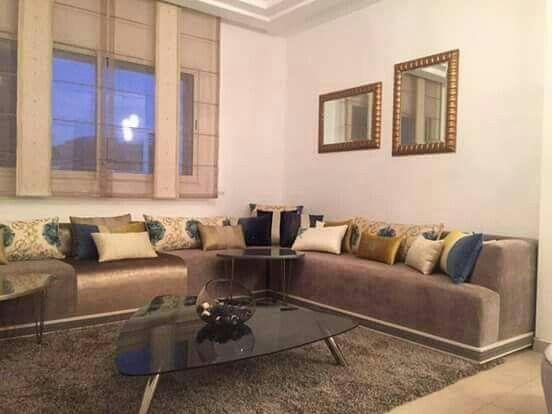 Modernes Wohnzimmer Im Marokkanischen Stil - Wohndesign -