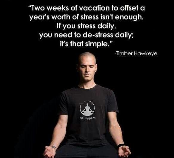 De-stress daily