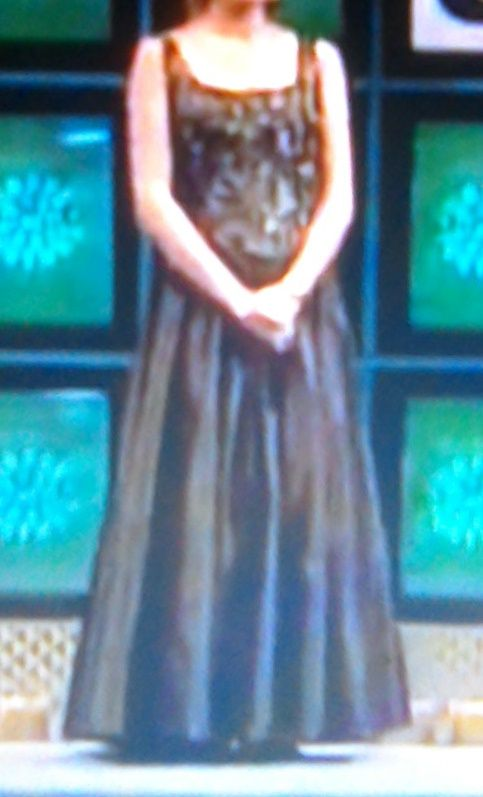 A Brown Ball Gown From 1997