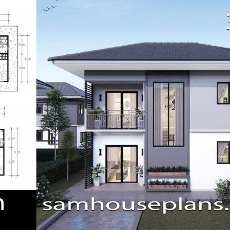 House Plans Idea 9x10m With 4 Bedrooms Sam House Plans House Plans Model House Plan Modern House Floor Plans