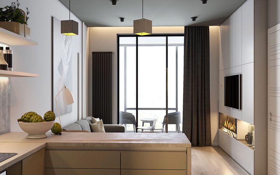 Ispirazioni, idee e soluzioni per arredare una cucina a vista sia piccola che di grandi dimensioni. Come Arredare Un Open Space Di 20 30 Mq Mondodesign It Apartment Design Small Apartment Interior Interior Design Apartment Small