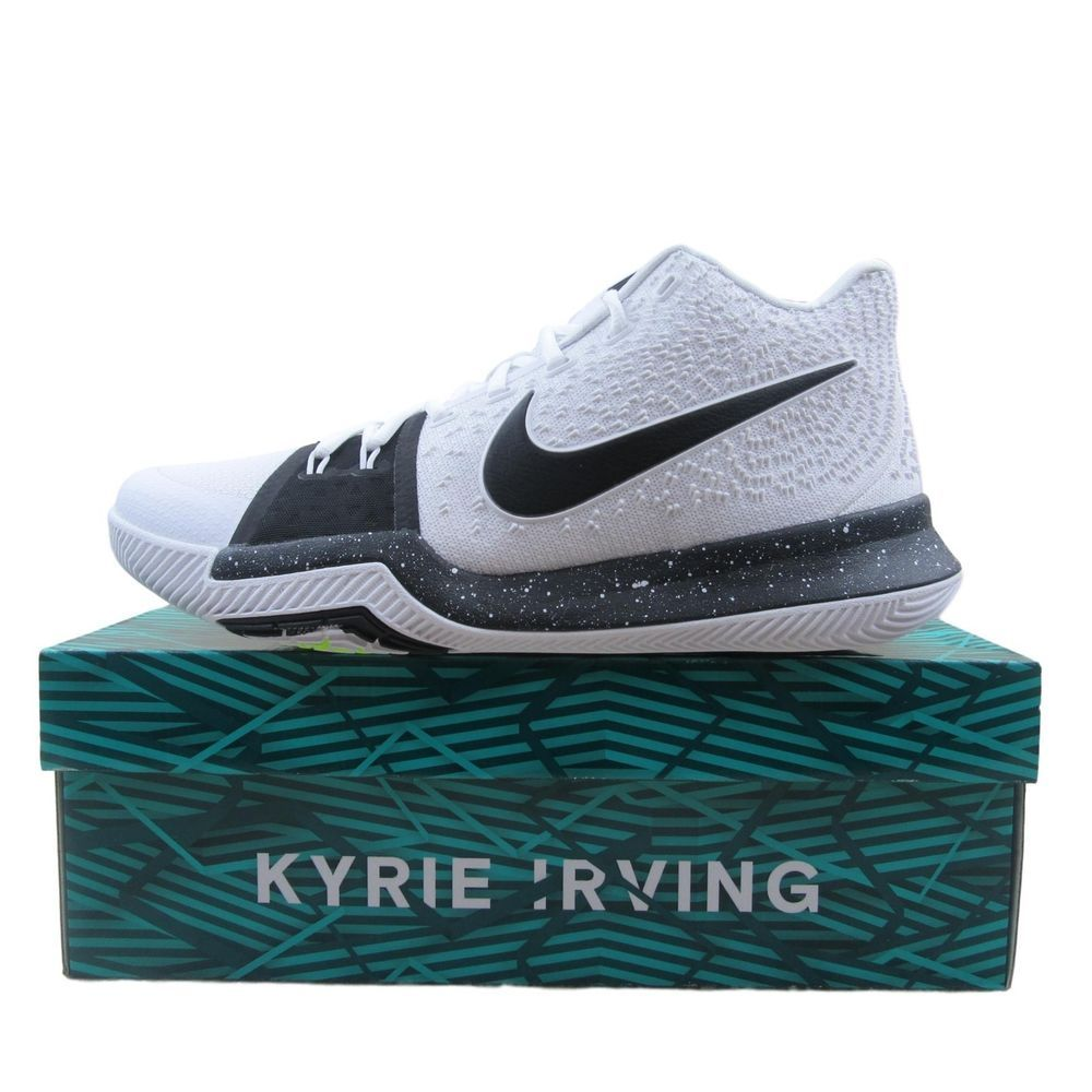 882ec7f9b02 Nike Kyrie 3 TB Basketball Shoes Size 11 Mens Cookies White Black 917724 100   Nike  BasketballShoes