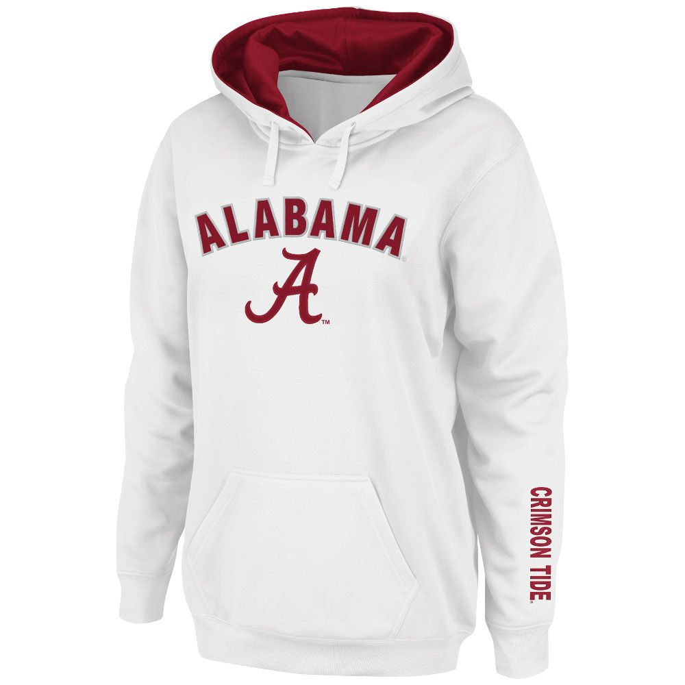 Women S Stadium Athletic White Alabama Crimson Tide Arch Logo Pullover Hoodie Alabama Crimson Tide Clothing Alabama Crimson Tide Crimson Tide [ 1000 x 1000 Pixel ]