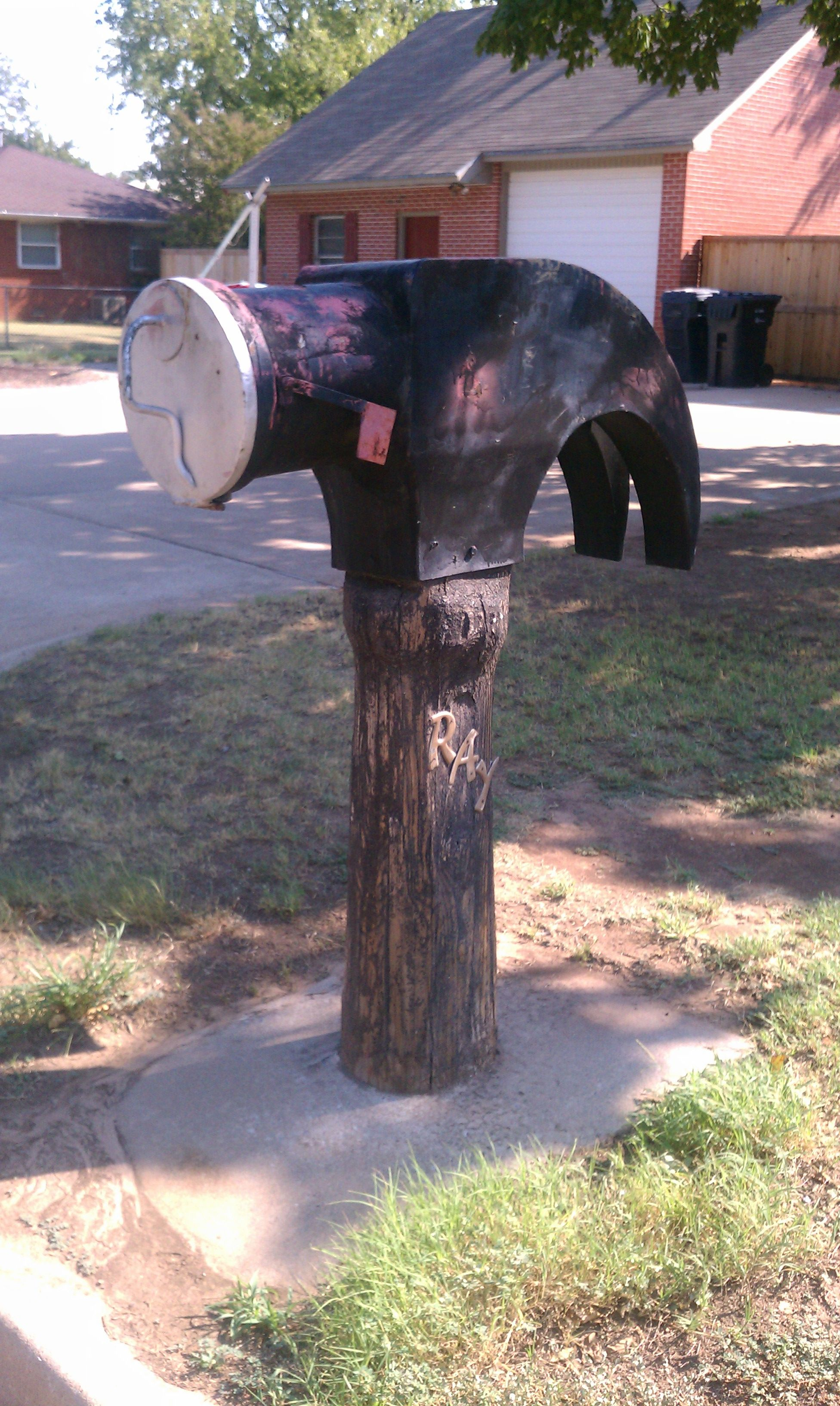 Can You Say Hammer Time Its Is A Custom Made By Hand Mail Box In