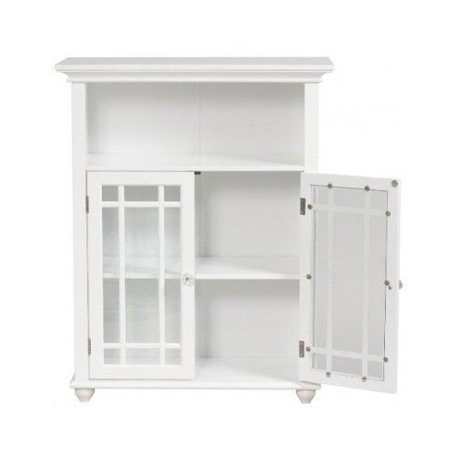 Classic 2 Door Floor Bathroom Cabinet Storage Towels Toiletries Wood Furniture Bathroom Floor Cabinets Bathroom Storage Cabinet Bathroom Floor Storage