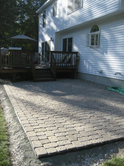 DIY Stone Patio, We Installed A 13x26 Stone Patio In Our Back Yard Between  Our