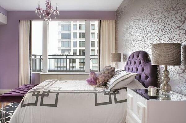 30 Best Bedroom Wallpaper Ideas Home Decor Ideas Uk Purple Bedrooms Purple Bedroom Walls Bedroom Design