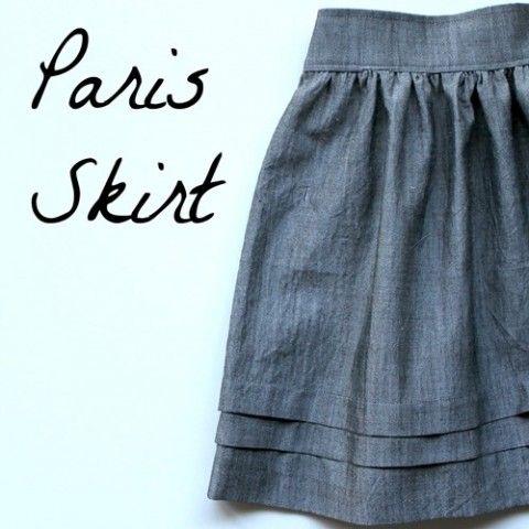 DIY Paris Skirt Tutorial | dikis | Pinterest | Nähen, Rock und Kleidung