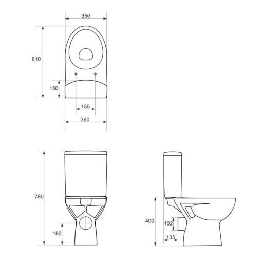 Cersanit Parva Zestaw Wc Kompakt Z Deska Duroplast Cleaning Diagram