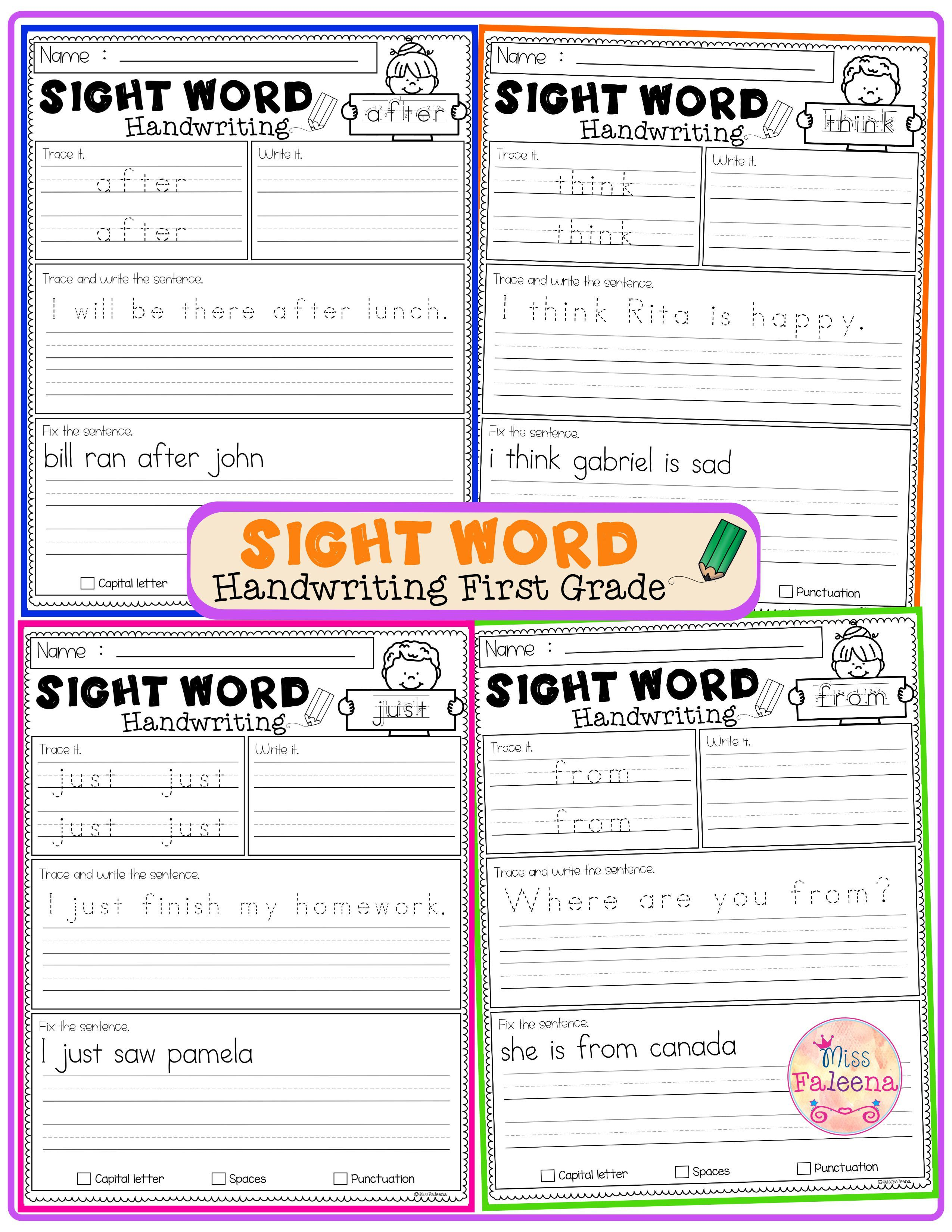 Sight Word Handwriting