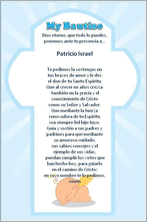 Padrinos De Matrimonio Catolico : Oracion bautismo buscar con google bautizo pinterest