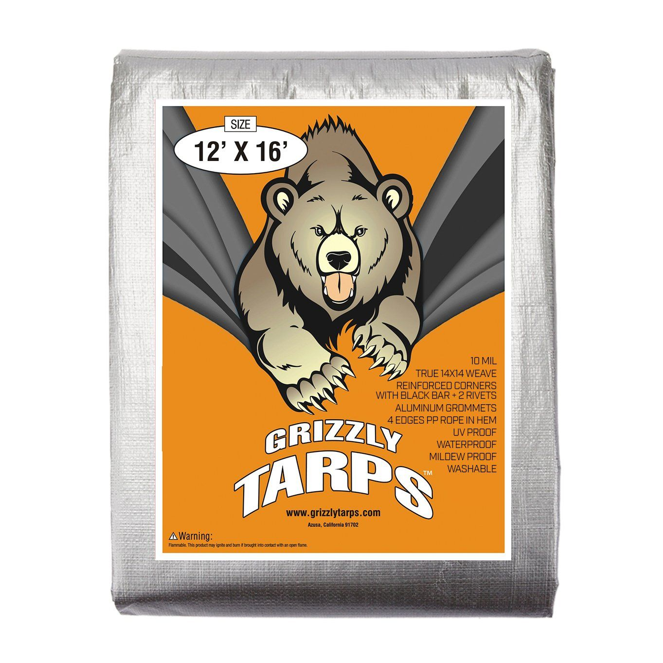 BAir, Grizzly Tarp, 8X10, Multi Purpose Heavy Duty