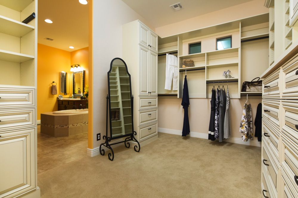 Elegant Antique White Walk In Master Closet By Classy Closets. Schedule A Free  Appointment Today