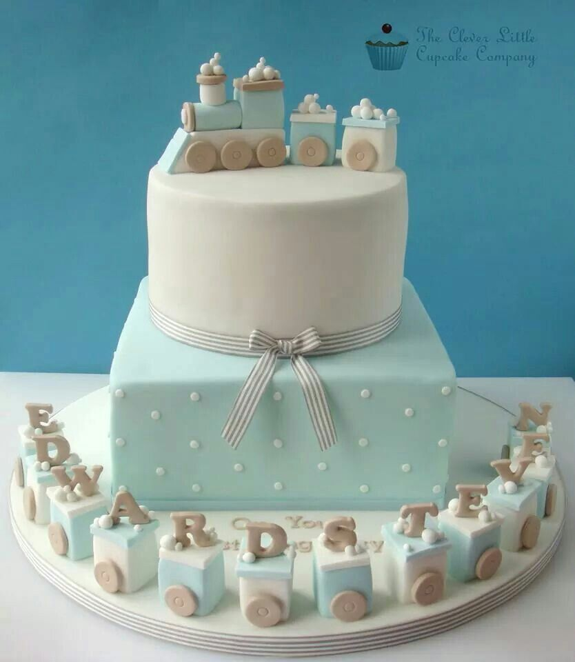 Baby Train Cake   Only Photo · Torta Baby ShowerPasteles ...