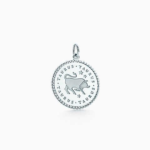 Taurus zodiac charm in sterling silver - Size Taurus Tiffany & Co.