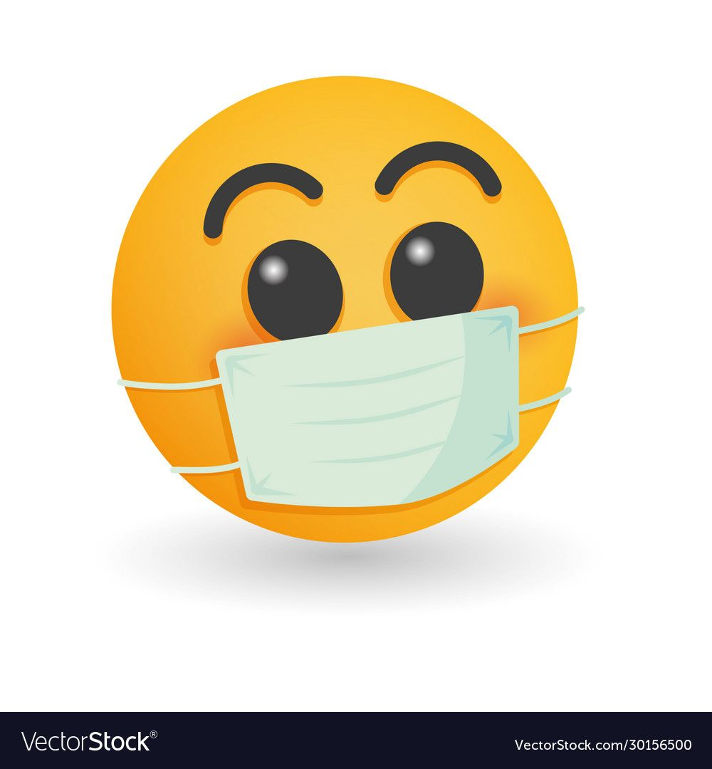Mask With Emoji Concept For Save World Vector Image On Vectorstock In 2020 Emoji Images Emoji Emoticon