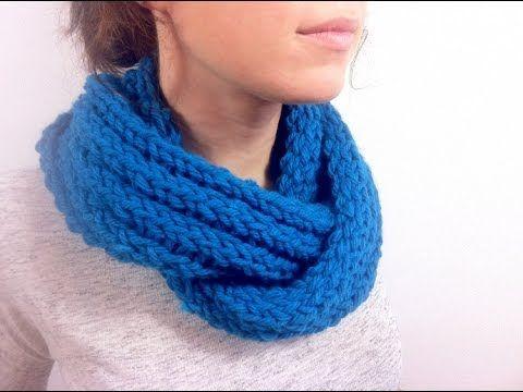 Crochet circular infinity scarf, crochê cachecol Cómo hacer un ...