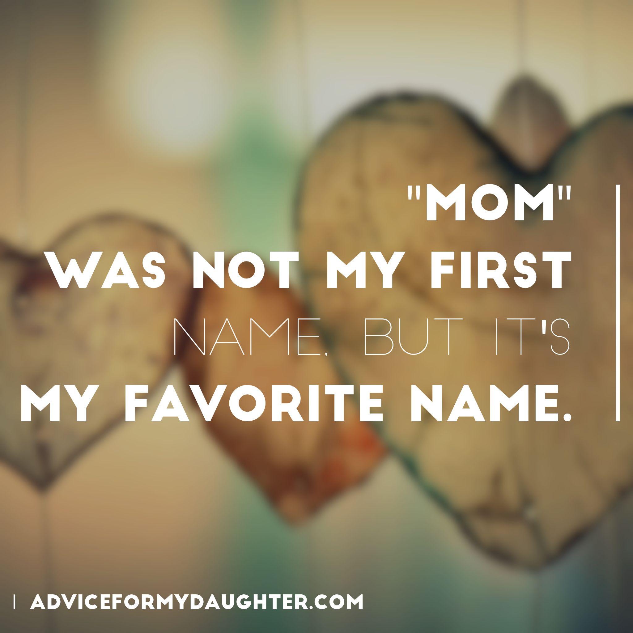I Love The Name Mom