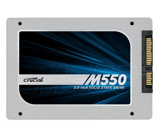 "CRUCIAL - M550 (CT512M550SSD1) - 512 GB - Hard disk SSD interno da 2,5"" + Cabinet esterno 2,5"" SATA USB 2.0 BEHED25A5S1 + Prolunga"