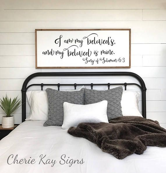 Master Bedroom Sign I Am My Beloveds Bedroom Wall Decor