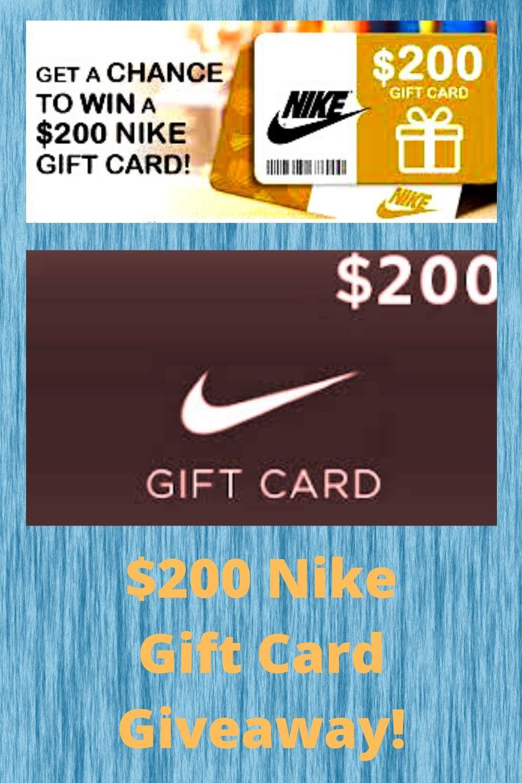 200 nike gift card giveaway in 2020 nike gift card