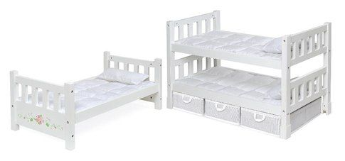 Badger Basket Toys 1 2 3 Convertible18 Inch Doll Bunk Bed With