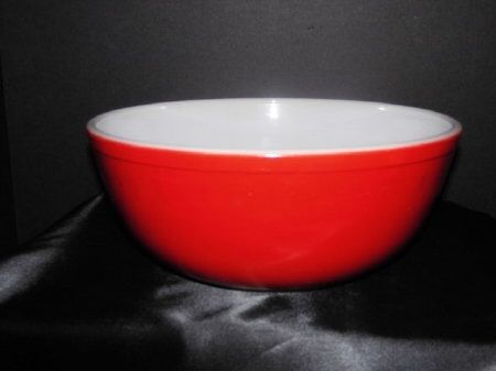 Selling-Vintage Pyrex For You - Red Pyrex Mixing Bowl Perfect for ...