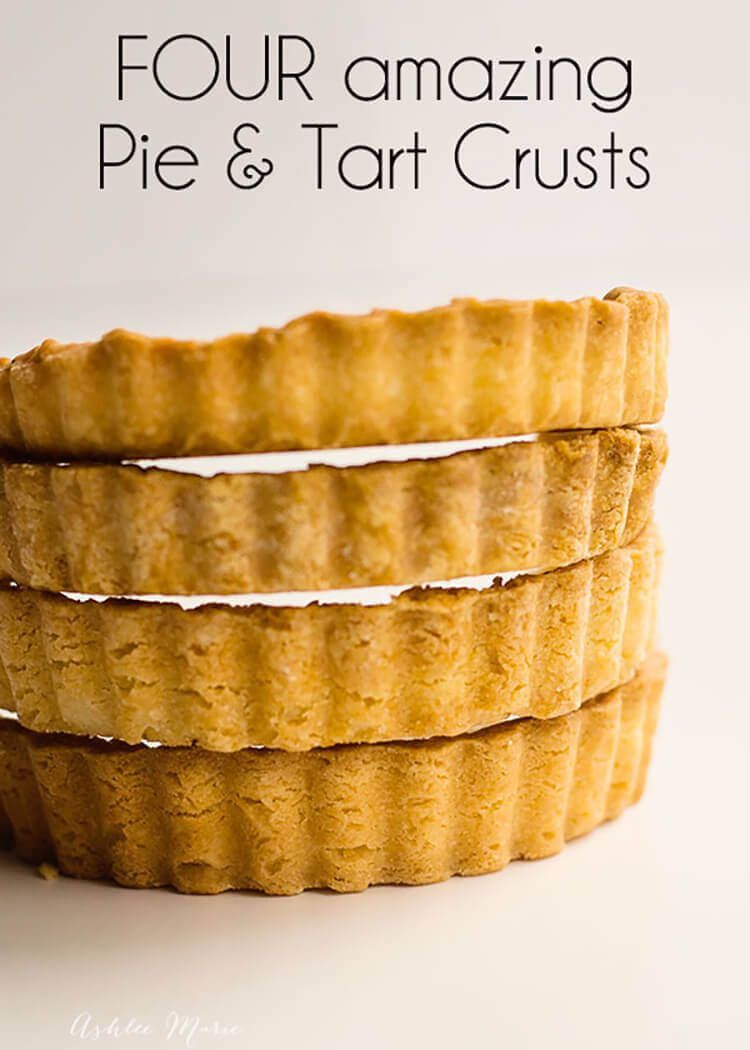 A Full Video Tutorial With Four Styles Of Pie Crusts And With What