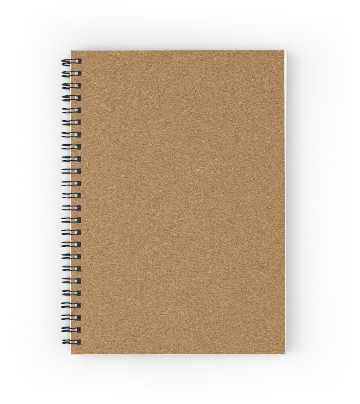 Looks Like Cork Spiral Notebook By Witandwhimsey In 2020 Graphic Design Mockup Graphic Design Background Templates Journal Template