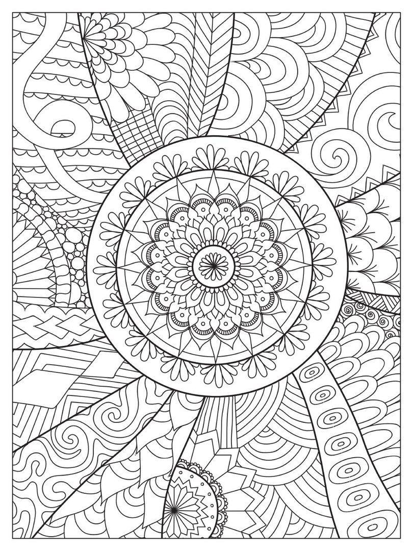 Pin auf Mandala malvorlagen
