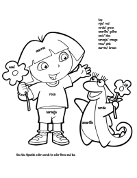 Dora Spanish Color By Numbers Dora Coloring Bunny Coloring Pages Coloring Pages