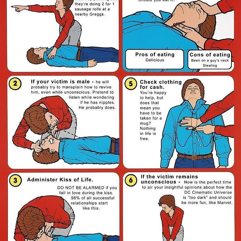 Your Guide To CPR #humor #funny #marvel #dc #kiss #love