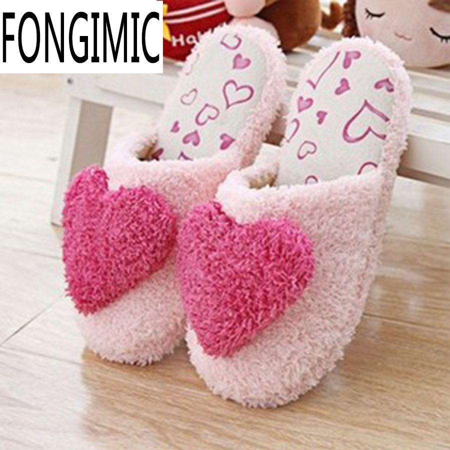 Hot pink dress shoes  Click to Buy ucuc Winter new style plus size slipper hot sale women